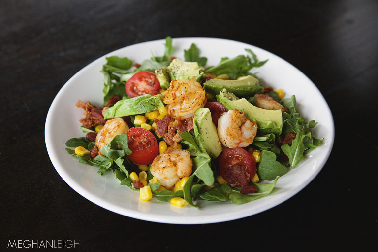 Tasty Tuesday - Grilled Shrimp and Arugula Salad with Corn ...